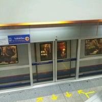 Photo taken at MRT Huai Khwang (HUI) by Tom T. on 7/10/2012