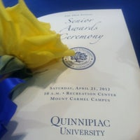 Photo taken at Quinnipiac Athletic and Recreation Center by Rebecca T. on 4/21/2012