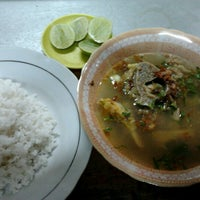 Photo taken at Soto Madura Kak Radji by Rizal K. on 8/22/2012