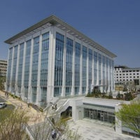 Photo taken at Yonsei University Samsung Library by Kyin L. on 4/13/2011