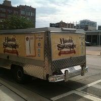 Photo taken at Haute Sausage by Carolyn B. on 7/29/2011
