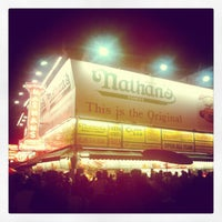 Photo taken at Nathan's Famous by Marques S. on 7/5/2012