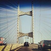 Photo taken at Napoleon Bonaparte Broward (Dames Point) Bridge by Victor A. on 5/24/2012