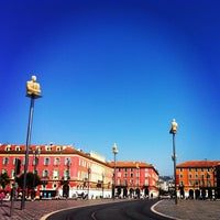 Photo taken at Place Masséna by CYNDY S. on 6/17/2012