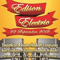 Photo taken at Toko Edison Elektrik by Toko Edison on 9/10/2012