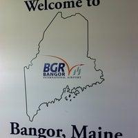 Photo taken at Bangor International Airport (BGR) by Sean G. on 4/6/2011