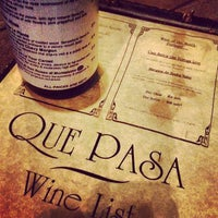 Photo taken at Que Pasa Wine & Tapas by Scott B. on 3/14/2012