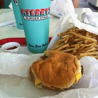 Photo taken at P. Terry's Burger Stand by Andrea D. on 5/16/2012