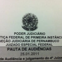 Photo taken at Juizado Especial Federal by Ana U. on 1/25/2011