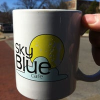 Photo taken at Sky Blue Cafe by Justin W. on 2/26/2012