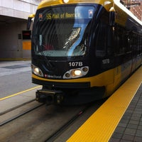 Photo taken at Nicollet Mall LRT Station by MJ on 6/19/2012
