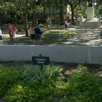 Photo taken at Forrest Gump's Bench (former location) by yo y. on 8/25/2012