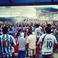 Photo taken at Estádio Aderbal Ramos da Silva (Ressacada) by Gabriel K. on 5/6/2012