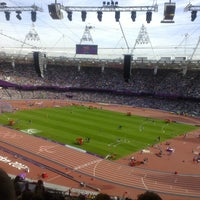 Photo taken at London Stadium by Giampiero F. on 9/6/2012