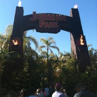 Photo taken at Jurassic Park The Ride by Andrea S. on 1/28/2012