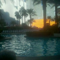 Photo taken at Pools at Monte Carlo Resort & Casino by Amy C. on 10/13/2011