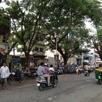 Photo taken at Gandhi Bazaar by Ganesh C. on 7/14/2012
