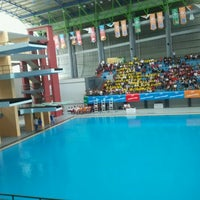 Photo taken at Jakabaring Aquatic Stadium by Dhiee H. on 11/16/2011