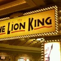 Photo taken at THE LION KING in Las Vegas by DJ D. on 11/26/2011