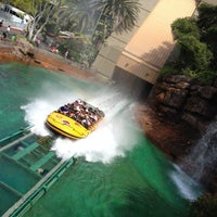 Photo taken at Jurassic Park The Ride by Chris L. on 7/10/2012