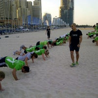 Photo taken at Ignite Military Bootcamp Dubai Marina by Guillaume M. on 1/13/2012