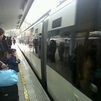 Photo taken at EuskoTren Bilbo - Donostia by Betsi M. on 12/30/2011