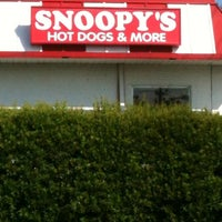 Photo taken at Snoopy's Hot Dogs & More by Mary C. on 5/9/2012