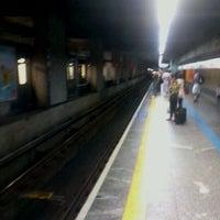 Photo taken at Estação Jabaquara (Metrô) by Leandro S. on 10/28/2011