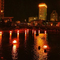 Photo taken at WaterFire Providence - Waterplace Park by Dan V. on 7/22/2012