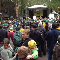 Photo taken at Seattle Supersonics Park by Aaron B. on 6/14/2012