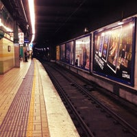 Photo taken at Town Hall Station (Platform 3) by R L. on 8/26/2012