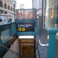 Photo taken at MTA Subway - 8th St/NYU (R/W) by Valerie S. on 9/12/2012