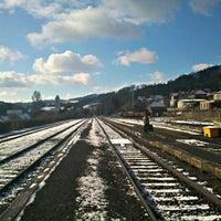 Photo taken at Železniční stanice Semily by Jenda Š. on 4/1/2012