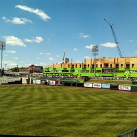 Photo taken at Parkview Field by Tyler K. on 6/7/2012
