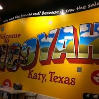 Photo taken at MOOYAH Burgers, Fries & Shakes by Paula C. on 5/18/2012