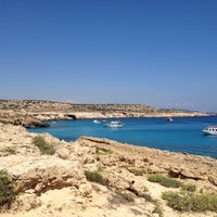 Photo taken at Konnos Beach by Andrey K. on 8/4/2012