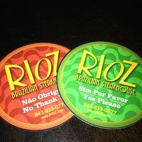 Photo taken at Rioz Brazilian Steakhouse by Roberta on 7/31/2012
