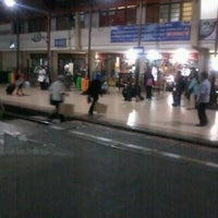Photo taken at Stasiun Jatinegara by CuLe P. on 7/14/2012