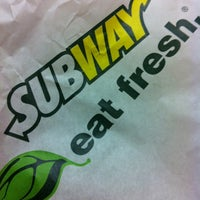 Photo taken at SUBWAY by Arcelyn B. on 3/17/2012