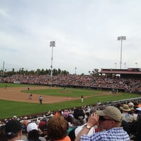 Photo taken at Scottsdale Stadium by Julie P. on 3/24/2012