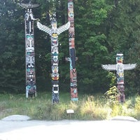 Photo taken at Totem Poles in Stanley Park by Edwin P. on 8/6/2012