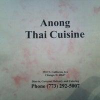 Photo taken at Anong Thai by Amanda W. on 4/22/2012