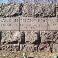 Photo taken at Franklin Delano Roosevelt Memorial by Devin M. on 3/14/2012