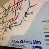 Photo taken at YO! Sushi by Amy O. on 4/5/2012