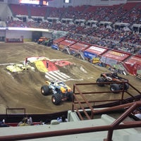 Photo taken at Cajundome & Convention Center by Jamie A. on 4/7/2012