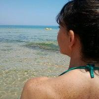 Photo taken at Beachclub Baia le Grotte by Ciccio L. on 6/30/2012
