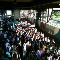 Photo taken at Estação Santo Amaro (CPTM) by Domingos C. on 3/7/2012