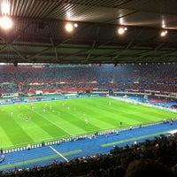 Photo taken at Ernst-Happel-Stadion by G T. on 9/11/2012