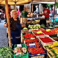 Photo taken at Campo de' Fiori by Fredrik S. on 8/13/2012