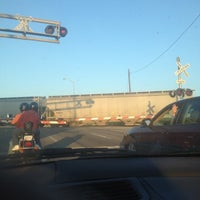 Photo taken at Railroad Crossing - New York & Pine by India W. on 5/25/2012
